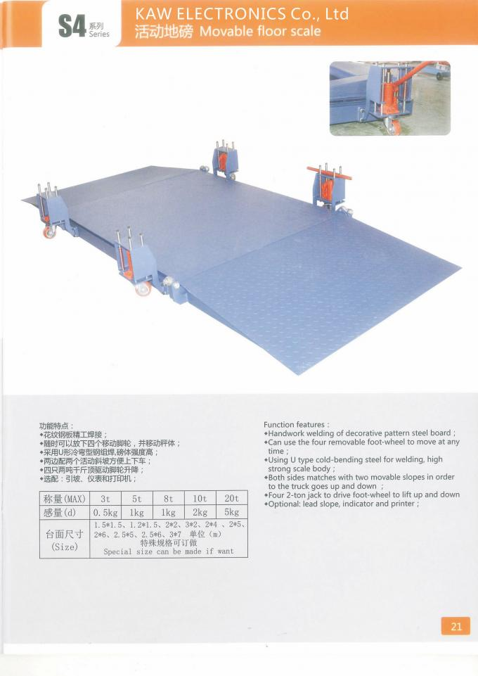 Large Platform Pallet Weighing Scales KAW-S4 1 Ton - 5 Ton Floor Pallet Scale