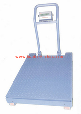 China Stainless Steel Industrial Floor Scale KAW-S6 Easy Move With Handle / Wheels supplier